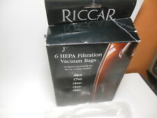(7) NEW w/ BOX Riccar HEPA Filtration Vacuum Bags for Canister Models C19-6
