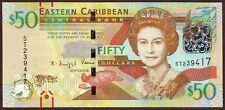 East Caribbean States  50 Dollars  ND (2015)    Gem UNC