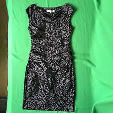 Evan Picone Womens Dress Petite 6P PS Black Gray Stretch Pleate Waist Career 1J7