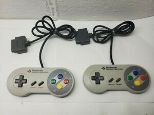 Lot of 2 Super Famicom Controller 2x Official Nintendo for SNES TESTED US Seller