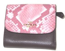 Coach Small Wallet Oxblood Pink Multi Colored Leather Tri-fold F25938 NWT $150