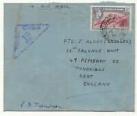 1941 GIBRALTAR to KENT ENGLAND WW2 AIRMAIL RARE FIELD POST with 6d KGVI Stamp