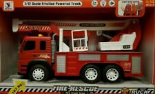 Friction Powered XLarge Fire Engine Truck Toy Lights Sounds Boys Girls Toys 1:12