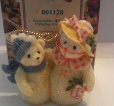 Cherished Teddies Snowbears with Hats Hanging Ornament MIB