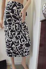 Asos/Primark Graffiti Print Midi Skirt 20  Black/White