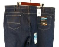 Dickie's Men's Big&Tall Relaxed Fit Straight Leg Dark Wash Jeans Size 50x30 NWT