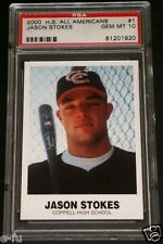 2000 Coppell TX High School All Americans #1 JASON STOKES Graded PSA GEM MINT 10