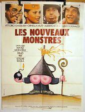 AFFICHE CINEMA 1978 LES NOUVEAUX MONSTRES GASSMAN MUTI film MONICELLI RISI SCOLA