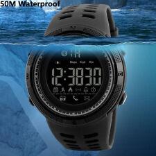 Skmei Waterproof Bluetooth Mens Smart Wrist Watch LED Digital Sport Pedometer