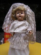 Hochzeitspuppe, England, Zelluloid um 1945/50, 64 cm