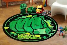 Hulk Smash Round Kids Rug - 100cm