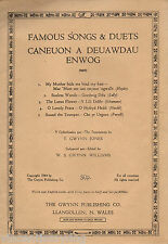 Caneuon a Deuawdau Enwog / Songs & Duets (1944 Welsh & English music and words)