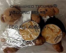 "Bride & Groom Cherished Teddies Patricia Hillman 6"" Bears 2002 New SEALED"