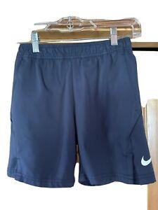 Nike Boy's Court Dry Tennis Short Size Small Navy Dri-fit