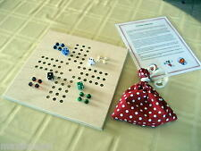 NEW The Marble Mania Board Game-Mini, Hand Made, Un-Finished Wood, marbles/dice