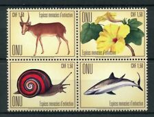 United Nations UN Geneva 2018 MNH Endangered Animals 4v Block Sharks Stamps