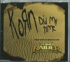 "KORN - DID MY TIME 2003 UK CD ""LARA CROFT TOMB RAIDER THE CRADLE OF LIFE"" OST"