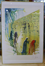 "Salvador Dali Large Lithograph ""Wailing Wall"" Pencil Signed and Numbered 151/250"