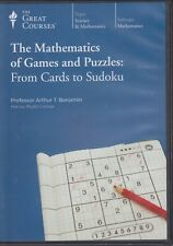 The Mathematics of Games and Puzzles; From Cards to Sudoku (2013) Great Courses