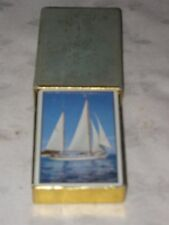 A Cased Single Full Deck of Congress Yacht Motif Playing Cards