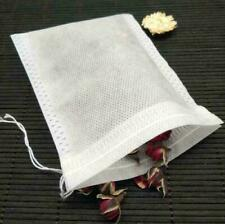 100X Paper Herb Loose Tea Bags Large Empty Teabags String Heat Seal Filter
