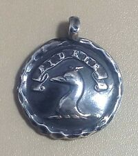 "Sterling Silver Pendant, Dog, Loyal, Faithful, Greyhound, Whippet, 1 1/8"", Bram"