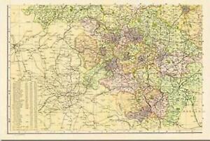 Yorkshire-South West(1900)Cassini Historical Map.Cassini Publi.End Of Stock!