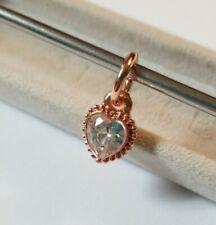 🌹 Rose Gold White Cz Heart Charm Pandora Bracelet 925 Sterling Silver NEW