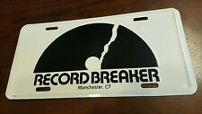 Record Breaker License Plate Vanity Manchester, CT Embossed