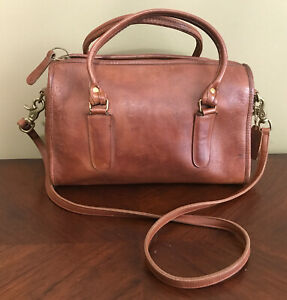AUTHENTIC RARE VINTAGE COACH LEATHER MADISON SATCHEL DOCTOR BAG TABAC TAN NYC