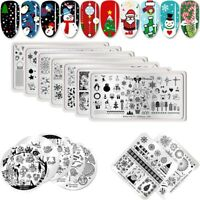 BORN PRETTY Christmas Stamping Plates Nail Art Stamp Templates Stencil Plate