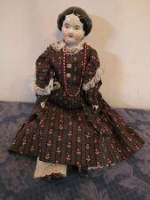 "18"" Vintage China Shoulder Head Hands Feet & Cloth Body Doll 73"