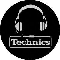 Technics 60642 PAIR Slipmat Headphone Logo High Quality Original / Brand New