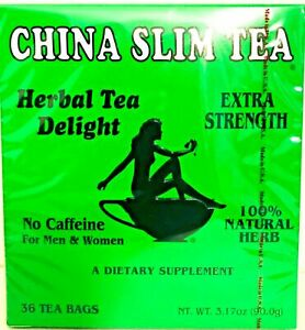 1 Box, China Slim Herbal Tea Extra Strength Delight 36 Tea Bags