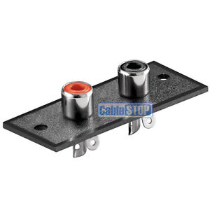 2 WAY RCA TERMINAL Wall Panel Plate Input Phono Chassis Socket Audio Connector