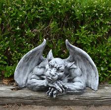 Große massive Steinfigur Gargoyle Torwächter Wächter aus Steinguss frostfest