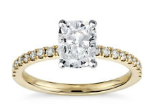 Diamond Engagement Ring - Gia Certified 0.86 Ct. Natural Cushion Cut Classic