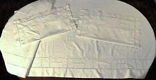 Parure de lit en lin Broderie de Fleurs Art Déco  - Drap 2m40 X 2m90 + 2 Taies