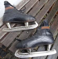 Antike Schlittschuhe made in Canada CCM Eis Hockey Eislauf Leder Schuhe Gr. 41