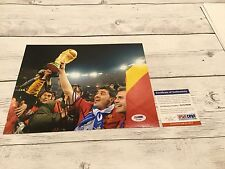 David Villa Signed Team Spain 8x10 Photo PSA/DNA COA Autographed Barcelona b