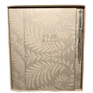 25th Wedding Anniversary Book With Silver Pen C.R Gibson WV2-25  NEW