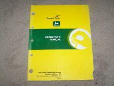 John Deere Used 627 Drawn Disk Operators Manual B18