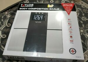 NIB TAYLOR Body Composition Scale, BMI, Muscle Mass, Wt, Body Water, Body Fat,