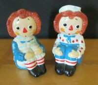 Bobbs-Merril Co 170 Raggedy Ann & Andy Ceramic Bookends