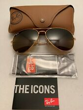 Ray-Ban Aviator Sunglasses RB3026 62-14mm 001/33 Gold Frame with Brown Lenses