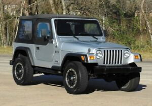 For 97-06 JEEP WRANGLER REPLACEMENT SOFT TOP + UPPER SKINS BLACK TINTED WINDOWS