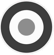2x 6inch RAF Roundel B/W gray sticker The Who Mod Target Scooter Vespa car decal