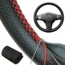 PU Leather DIY Car Steering Wheel Cover Auto Universal 38cm w/Needles and Thread
