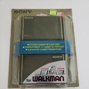 Vintage Sony SRS-11 NOS Stereo Active Speakers Cassette Case Size Walkman