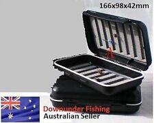CF FLY BOX - FLY FISHING - 166MM X 98 MM X 42MM - BLACK - AUSTRALIAN SELLER!